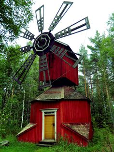 Tuulimylly. Windmill local history museun Kauhajoki , Finland.