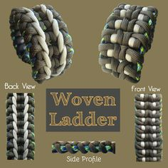 Woven Ladder Paracord Bracelet Designs, Paracord Knots, Paracord Projects, Paracord Bracelets, Make Your Own Bracelet, How To Make Leather, Parachute Cord, Diy And Crafts, Jewelry Design