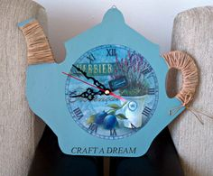 decoupaged wall clock