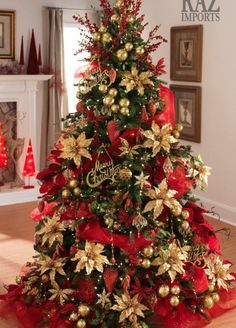 Top 40 Amazing Red And Gold Christmas Decor Ideas Christmas Celebrations