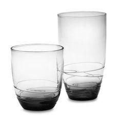 Mikasa® Swirl Smoke Glass Barware - BedBathandBeyond.com