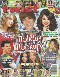 Twist magazine Taylor Swift Justin Bieber Demi Lovato Willow Smith Miley Cyrus