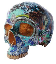 "Saatchi Online Artist: RAra Collective; Mixed Media, 2012, Sculpture ""Skull 4 by Miranda Woodard"""