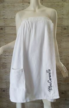 Monogrammed Spa Wrap Bridesmaid Wedding by MaBrownMercantile Towel Wrap, Lingerie Sleepwear, Sewing For Kids, Sewing Clothes, Wedding Bridesmaids, New Outfits, Monogram, Plus Size, Couture