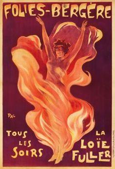 LOT #428: Folies-Bergere / La Loie Fuller. 1897 PAL (Jean de Paleologue, 1860-1942)