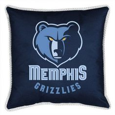 Memphis Grizzlies Throw Bed Pillow 18 x 18
