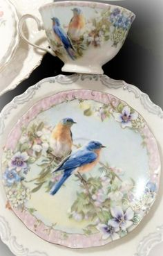 sweet love bird china ~Debbie Orcutt ❤