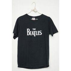 Vintage THE BEATLES Tee ($45) ❤ liked on Polyvore featuring tops, t-shirts, vintage tops, vintage t shirts and vintage tees
