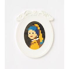 Girl with the Pearl Earring perler beads