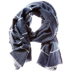 Banana Republic Mens Blanket Stripe Scarf (99 RON) ❤ liked on Polyvore featuring men's fashion, men's accessories, men's scarves, men, navy, banana republic mens scarves and mens scarves