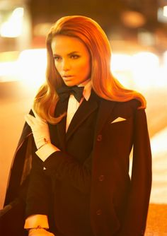 Sexy menswear tuxedo dressing - Natasha Poly - classic and timeless style!