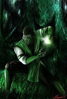 Reptile by on DeviantArt Scorpion Mortal Kombat, Mortal Kombat 9, Reptile Mortal Kombat, Mi Images, Mortal Kombat X Wallpapers, Minions, Illustrator, Mileena, Dragon Knight
