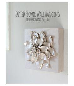 Flor 3D para parede passo a passo