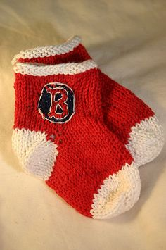 Ravelry: Baby Red Sox Socks pattern by Mollie Hartford-Chamberland