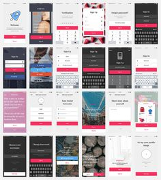 8 best mobile ui ux kits app design templates images on pinterest