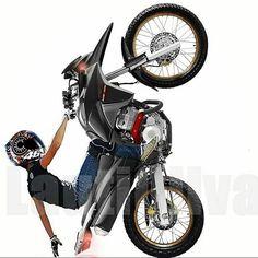 a115fca8d Resultado de imagem para adesivo moto empinando | Bikes .. | Desenho ...
