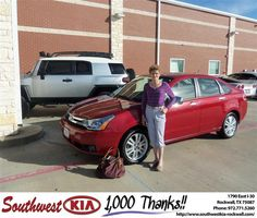 #HappyAnniversary to Julia Burgess on your 2011 #Ford #Focus from Gary Guyette Jr at Southwest KIA Rockwall!