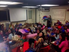 Sisters from Epsilon Mu Chapter (Loyola-New Orleans) are making tutus for @Amy Lampe on the Run International girls to wear at their upcoming 5k! #BuildingStrongGirls