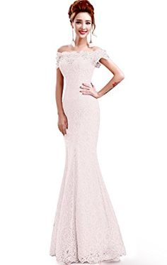 Babyonlinedress off shoulder lace mermaid bridal dress ** See this great product.