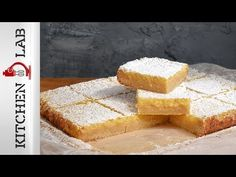 Lemon bars by Greek chef Akis Petretzikis! Make this special sweet treat in no time at all with this super quick and delicious recipe for lemon bars! Lemon Bars, Cornbread, Sweet Treats, Yummy Food, Snacks, Cookies, Ethnic Recipes, Desserts, Drink