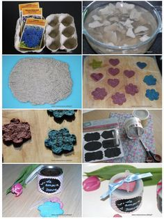 Flowers to sow for Mother's Day (DIY seed paper) - - Flowers to sow f Crafts To Sell, Diy And Crafts, Crafts For Kids, Diy Flowers, Paper Flowers, Seed Bombs, Seed Paper, Diy Papier, Mothers Day Flowers