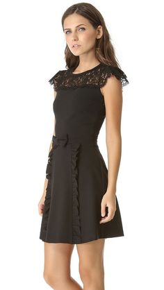 Ponte Dress with Lace
