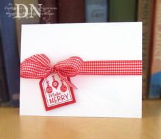 clean and simple christmas card. Looks fairly easy to mass produce....