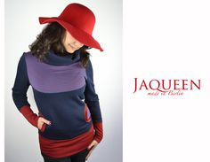 Hoodies - Pullover blau Baumwolle - ein Designerstück von JAQUEEN-handmade-streetwear-berlin bei DaWanda