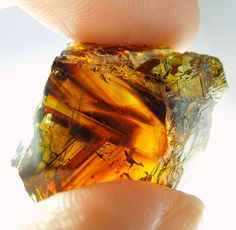 """mineralists: """" Sphalerite with color zones of yellow, orange and red with some green around the edges of the specimen. Rhodope Mts, Bulgaria """""""