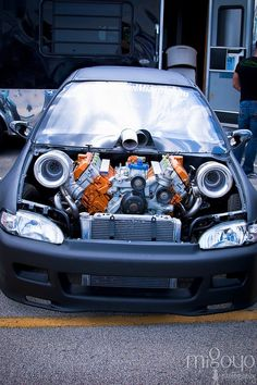 6.0 Powerstroke Twin Turbo Honda Bad ass civic visit us @ http://www.swengines.com/