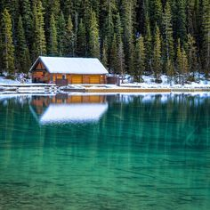 boathouse at lake louise in banff national park, alberta, canada Wonderful Places, Great Places, Beautiful Places, Places To Visit, Beautiful Scenery, Banff National Park, National Parks, Places Around The World, Around The Worlds