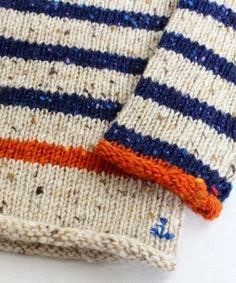 the little signature stitches - knitting inspirationVintage Sport and Travel inspire Autumn Winter love the little signature stitches and the one stripe and border in contrasting colourKnitting stripes and a little anchor- how adorable is that! Knitting For Kids, Baby Knitting Patterns, Knitting Stitches, Knitting Projects, Crochet Projects, Crochet Patterns, Crochet Baby, Knit Crochet, Tricot D'art