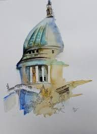 images (191×264) Watercolor, Pen And Wash, Watercolor Painting, Watercolour, Watercolors, Watercolour Paintings