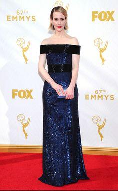 Sarah Paulson from 2015 Emmys: Red Carpet Arrivals  Prabal Gurung