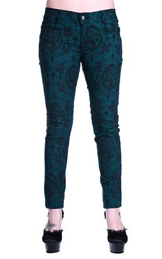 Banned Gothic Cross Cameo Trousers