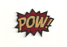 Super Hero, POW Patch! Any Color Combo! Custom Made!