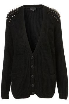 With a black cardigan and some studs, I will have a cardigan exactly like this! DIY!