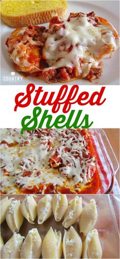 Stuffed Shells recipe from The Country Cook
