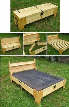 Bench to guest bed. Cool!