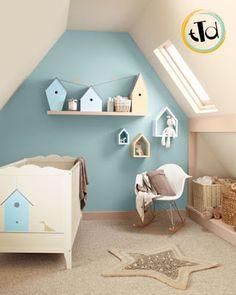 Modern whimsical mostly diy love the white nursery and nursery ideas - Parete carta da zucchero ...
