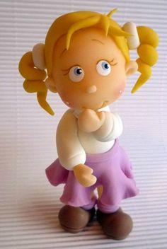 *PORCELAINE FROIDE ~ Petite fille blonde