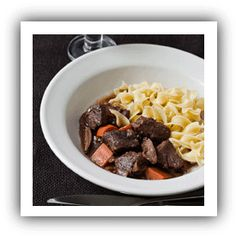 February 08 - Beef Stew with Porcini Mushrooms - Recipe
