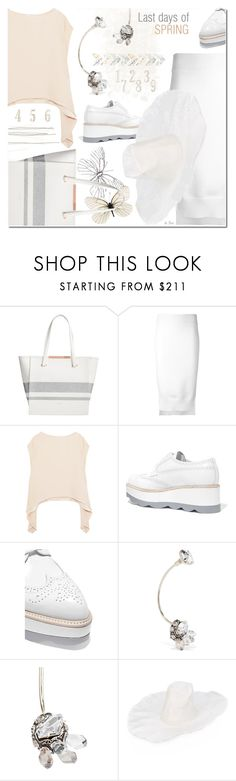 """""""DKNY, Reversible skirt with step hem"""" by deneve ❤ liked on Polyvore featuring Ted Baker, DKNY, IRO, Prada, Lanvin and REINHARD PLANK"""