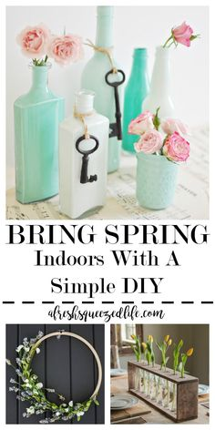 Spring is in the air! It is time to flex your DIY muscles, head to the dollar store, and buy some pastel pretties. Check out these fun, farmhouse ideas! SPRING DECOR (A LITTLE BIT EARLY!)