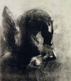 Pegasus, by Odilon Redon (1840 – 1916).