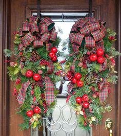 Evergreen WILLIAMSBURG CHRISTMAS SWAGS Pair by decoglitz on Etsy