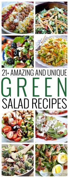 Healthy dinner is about to get SO much yummier! 21+ amazing and unique green salad recipes your whole family will love!