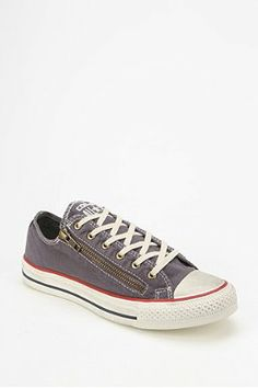 finest selection eab4a ba183 Converse Chuck Taylor All Star Washed Double-Zip Women s Low-Top Sneaker  Cheap Women s