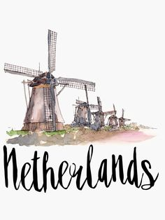 'Netherlands' Photographic Print by creativelolo City Wallpaper, Travel Drawing, Travel Illustration, Instagram Story Ideas, Art Mural, Instagram Highlight Icons, Vintage Travel Posters, Netherlands, Sketches