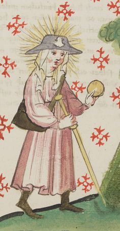 Sainte Catherine, Saint Jacques, Book Of Hours, Diapering, Medieval Art, 15th Century, Pilgrimage, Mythology, Illustration Art